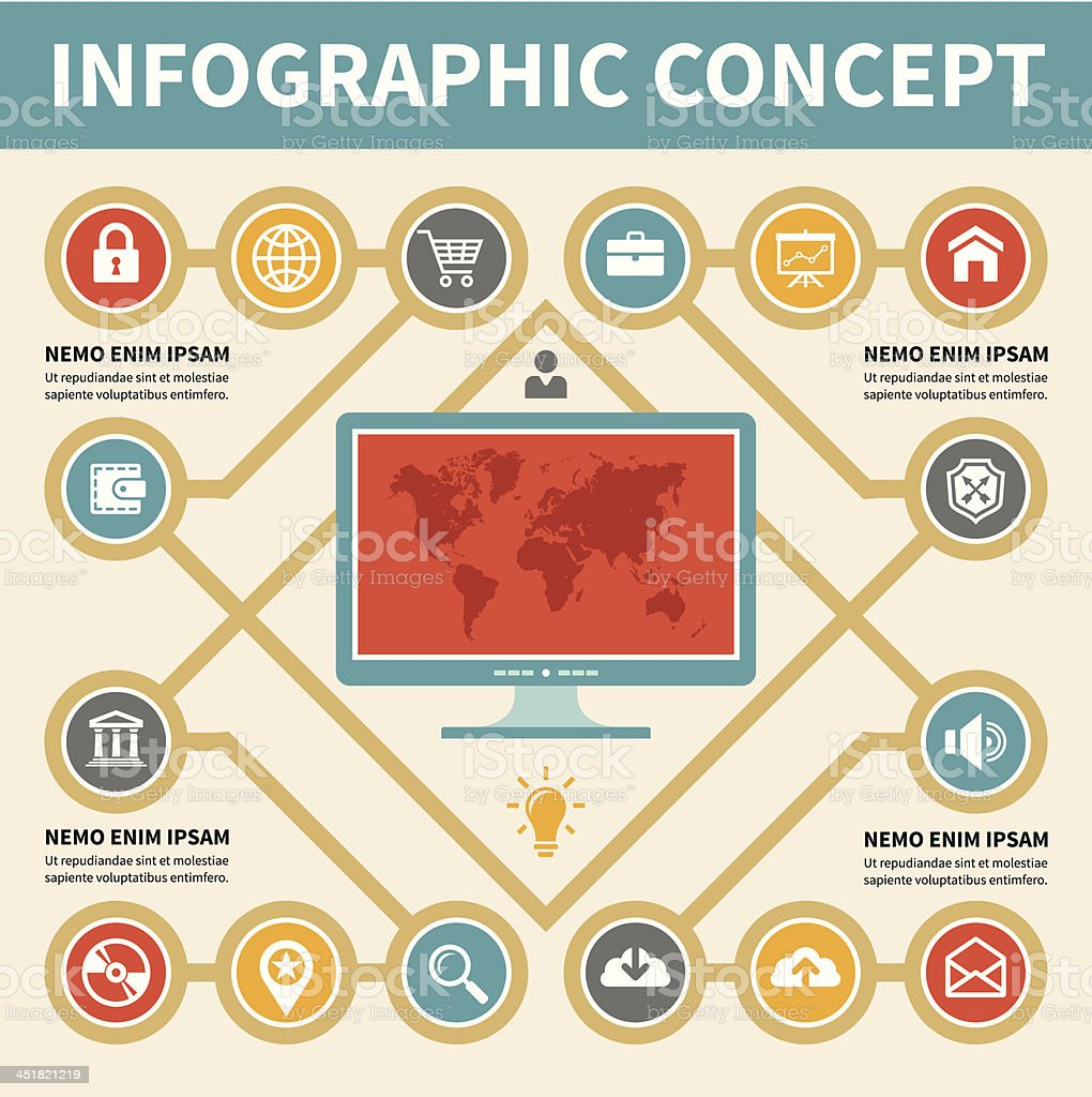 Infographic Concept - Vector Scheme with Icons royalty-free stock vector art