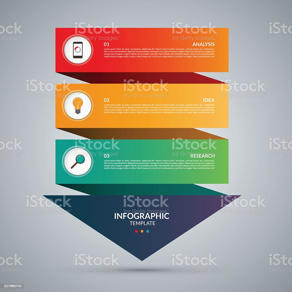 Infografik Konzept. Vektor-template mit 3 Schritten – Vektorgrafik