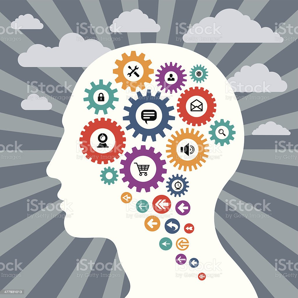 Infographic Concept with a Human Head royalty-free stock vector art
