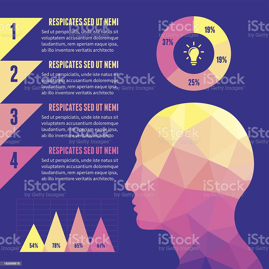 Infographic Concept with Human Head royalty-free stock vector art