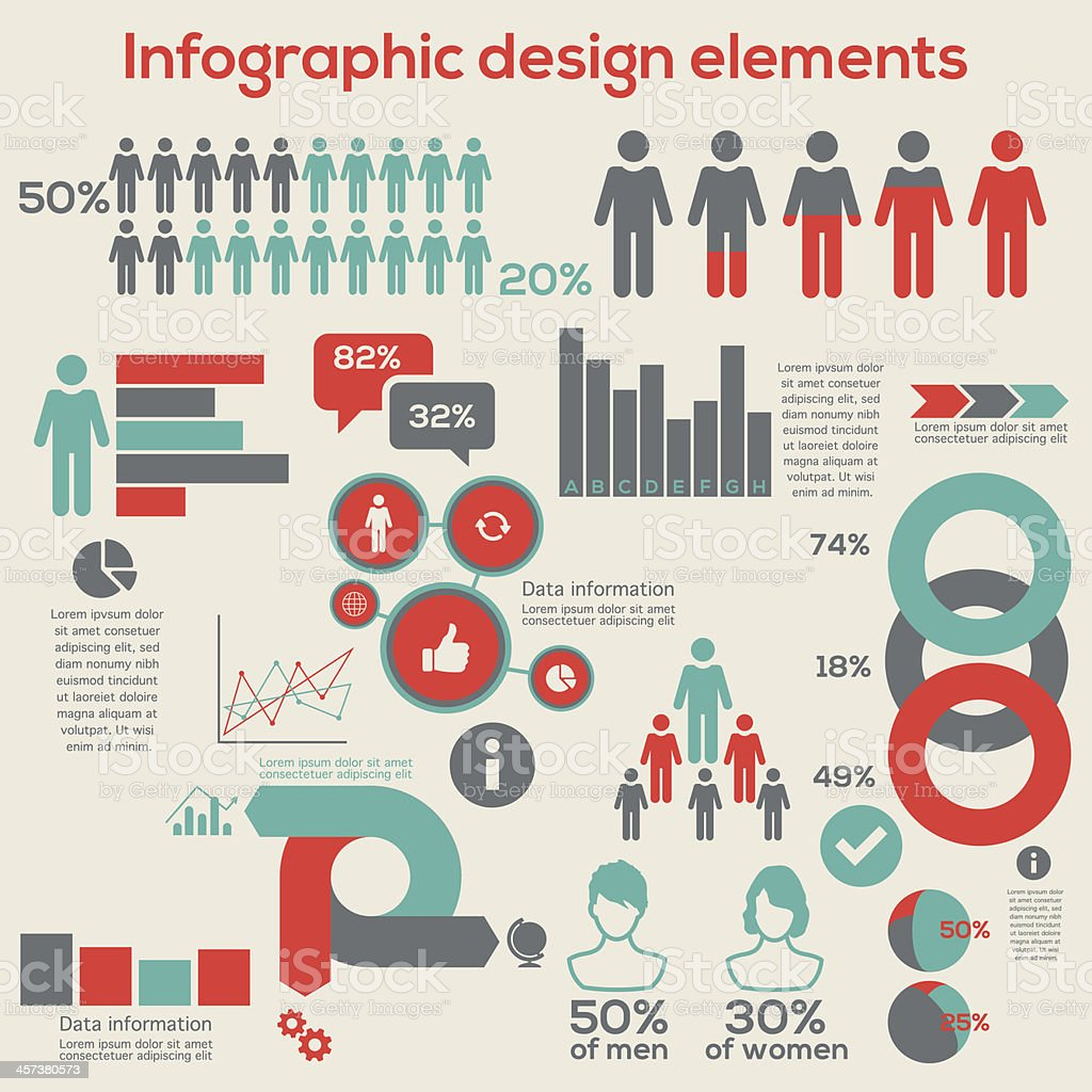 Infographic design elements vector art illustration