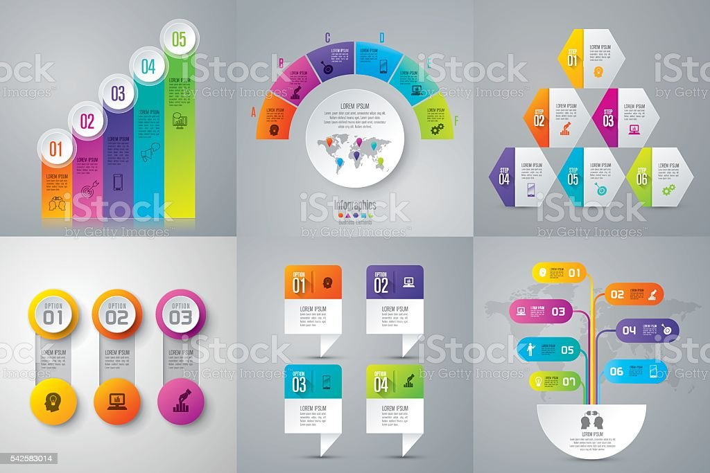 Infographic design template and business icons. royalty-free stock vector art