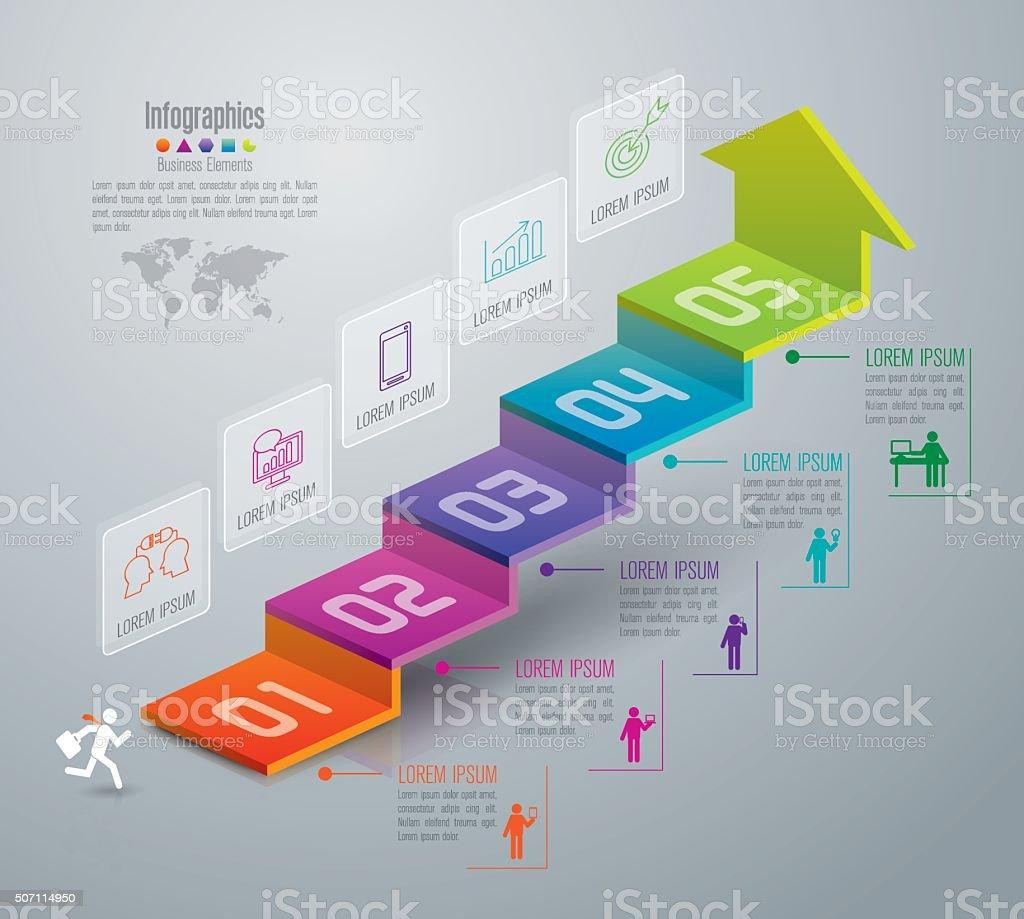 Infografik design-Vorlage und marketing icons. – Vektorgrafik