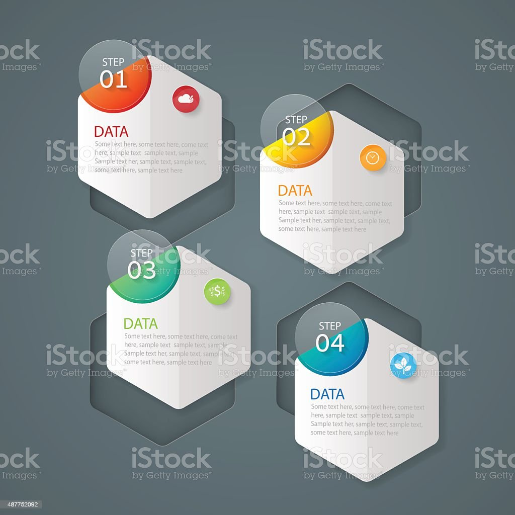 Infographic design template Business concept with 4 options vector art illustration