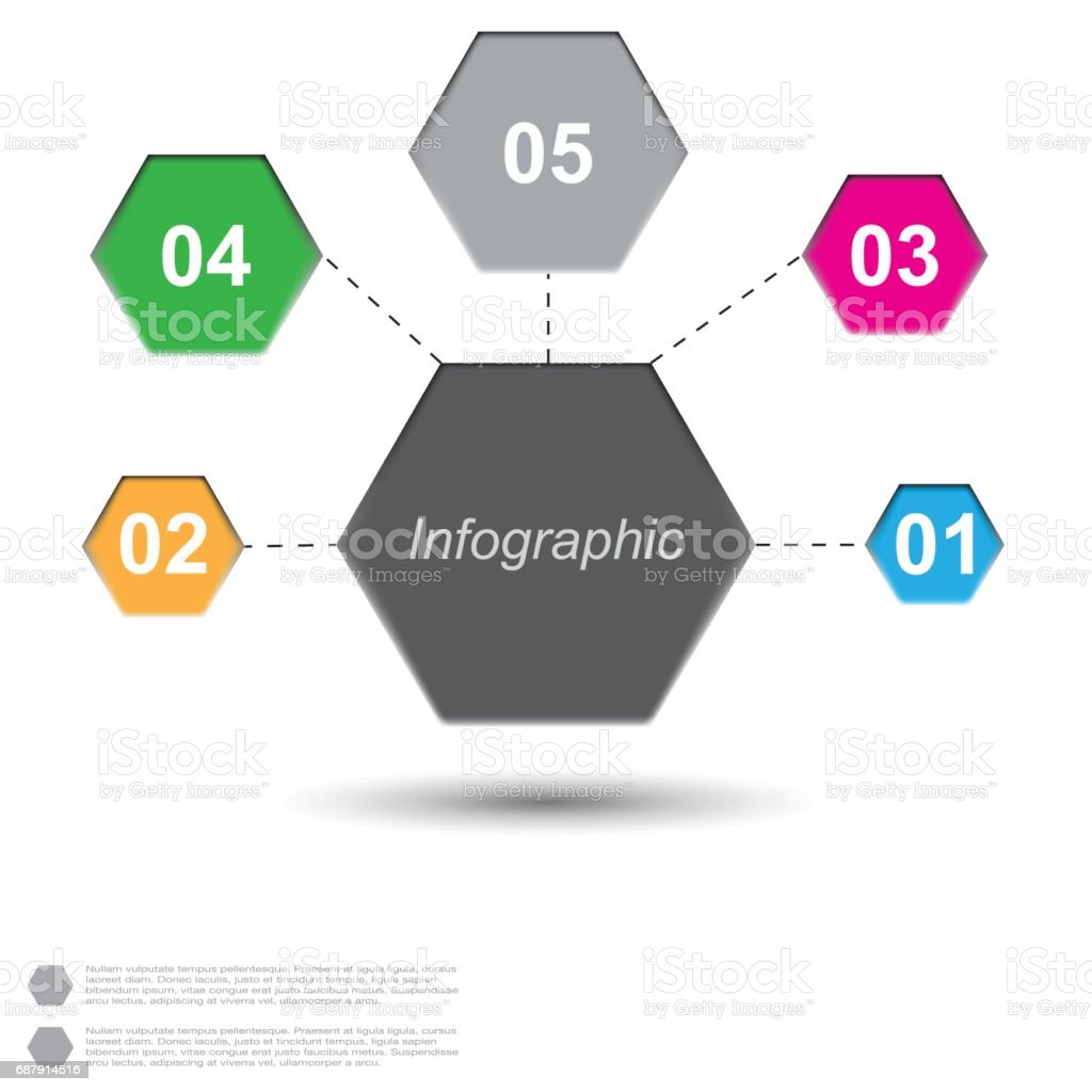 Infographic design template vector art illustration