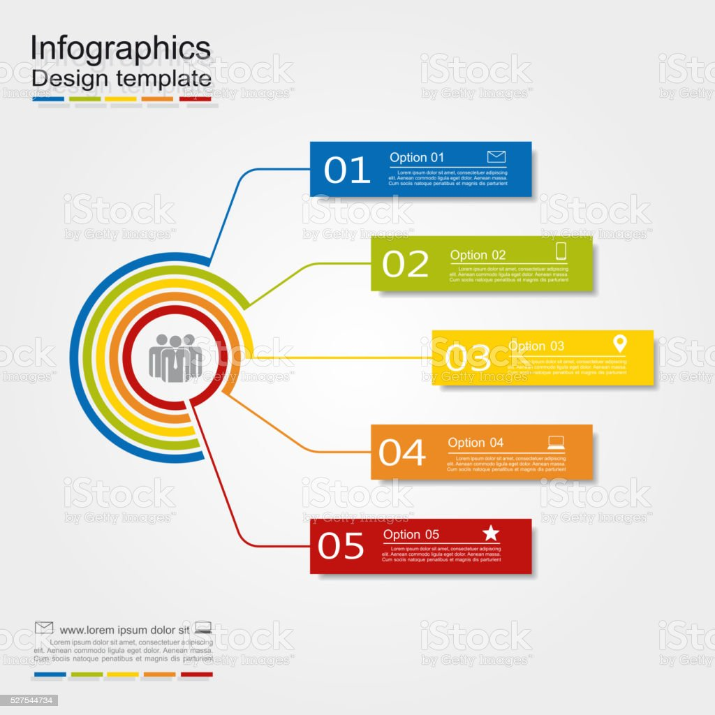 Infographic design template. Vector illustration vector art illustration