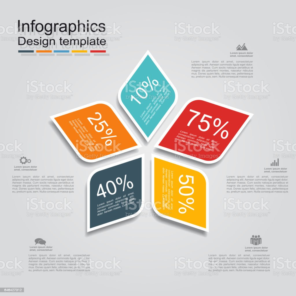 Infographic design template with elements and icons. Vector. vector art illustration