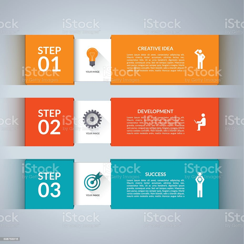 Infographic design template with marketing icons vector art illustration