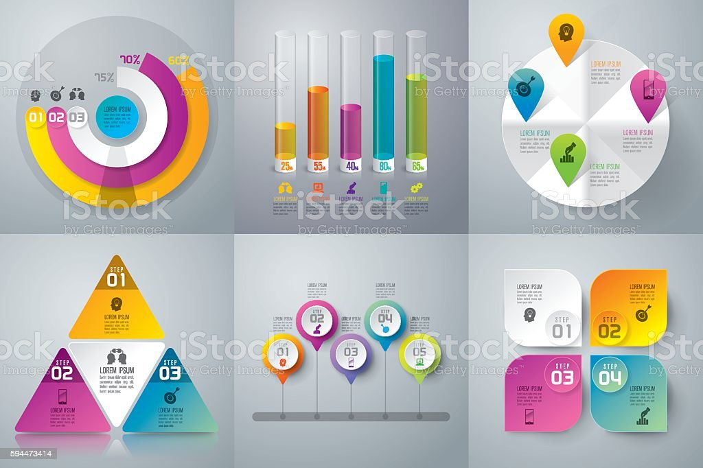 Infographic design vector and business icons. royalty-free stock vector art