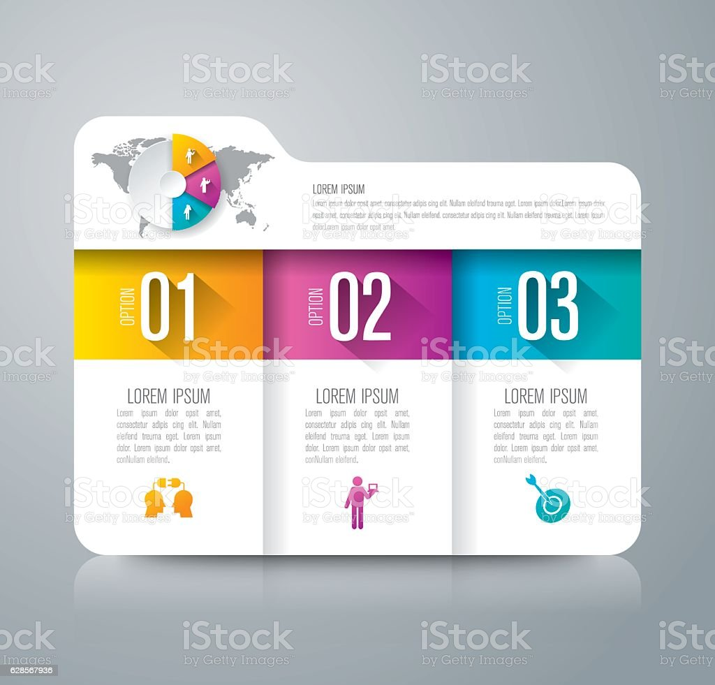 Infographic design vector and business icons. vector art illustration