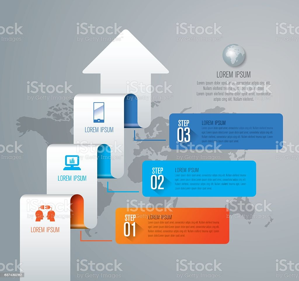 Infographic design vector and marketing icons with 3 options. vector art illustration