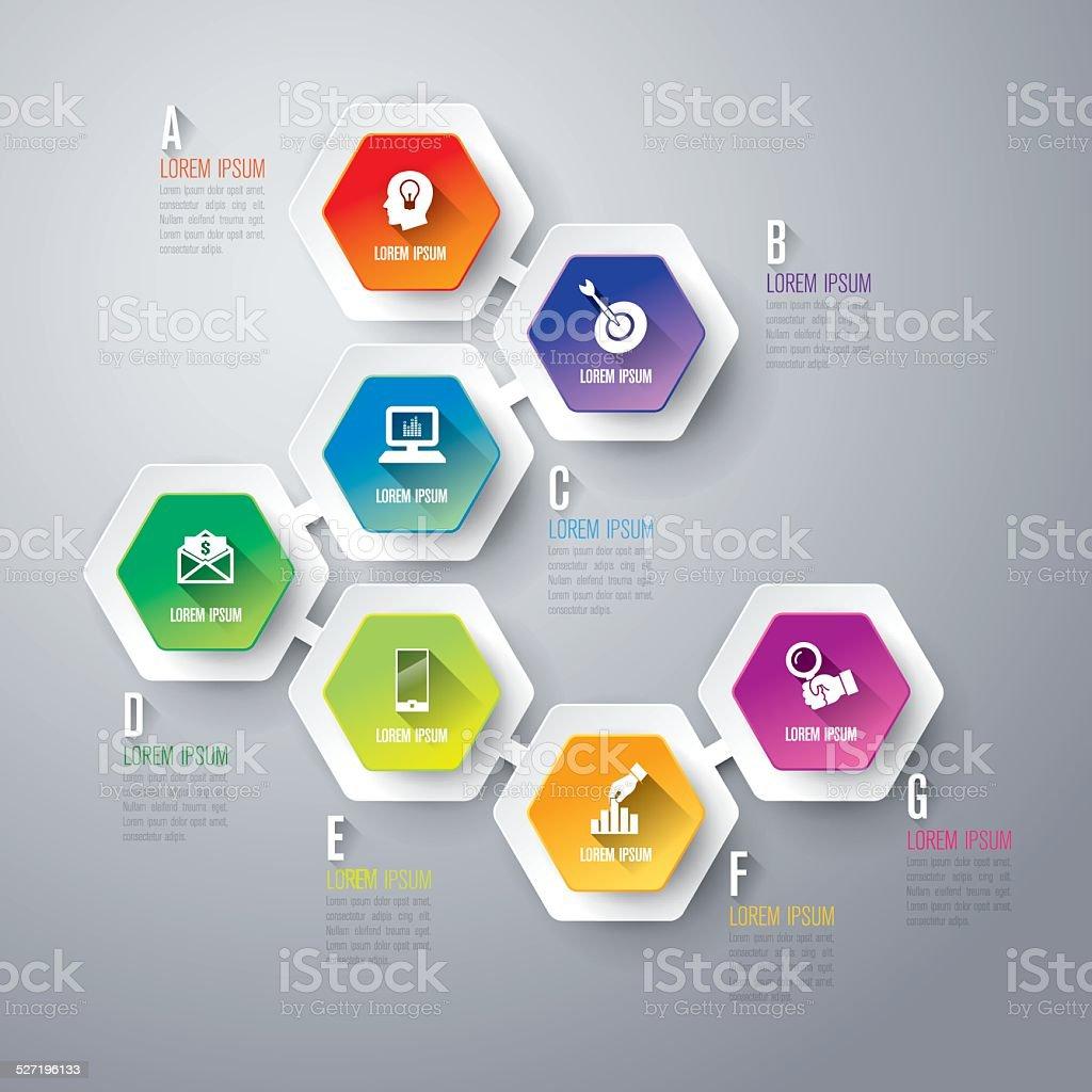 Infographic design vector. vector art illustration