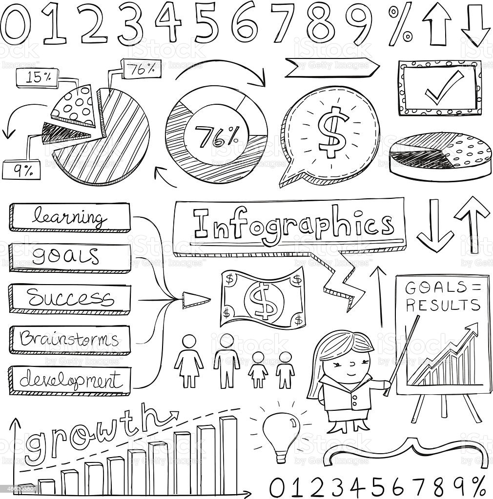 Infographic Doodles royalty-free stock vector art