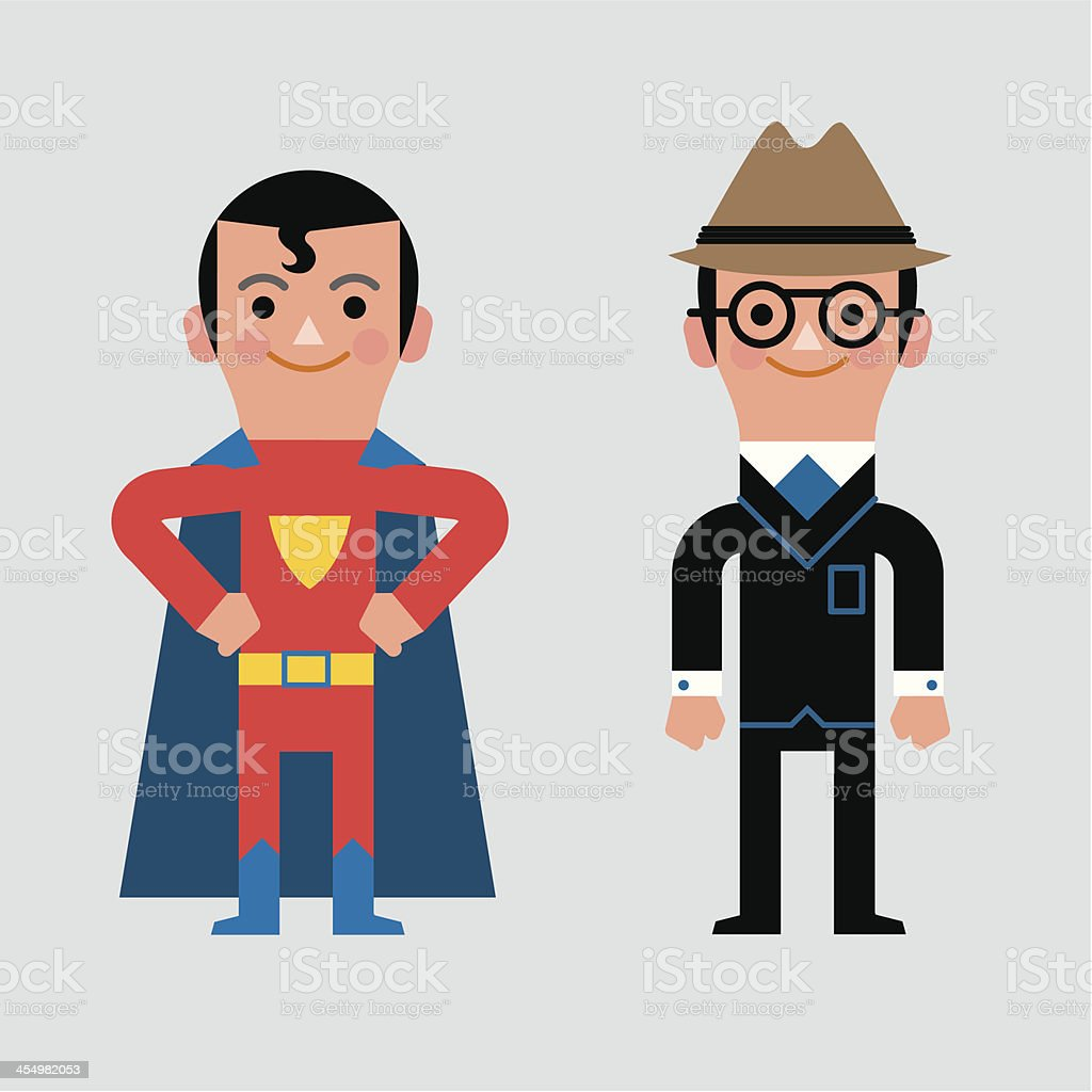 InfoGraphic Dress-up Man royalty-free stock vector art