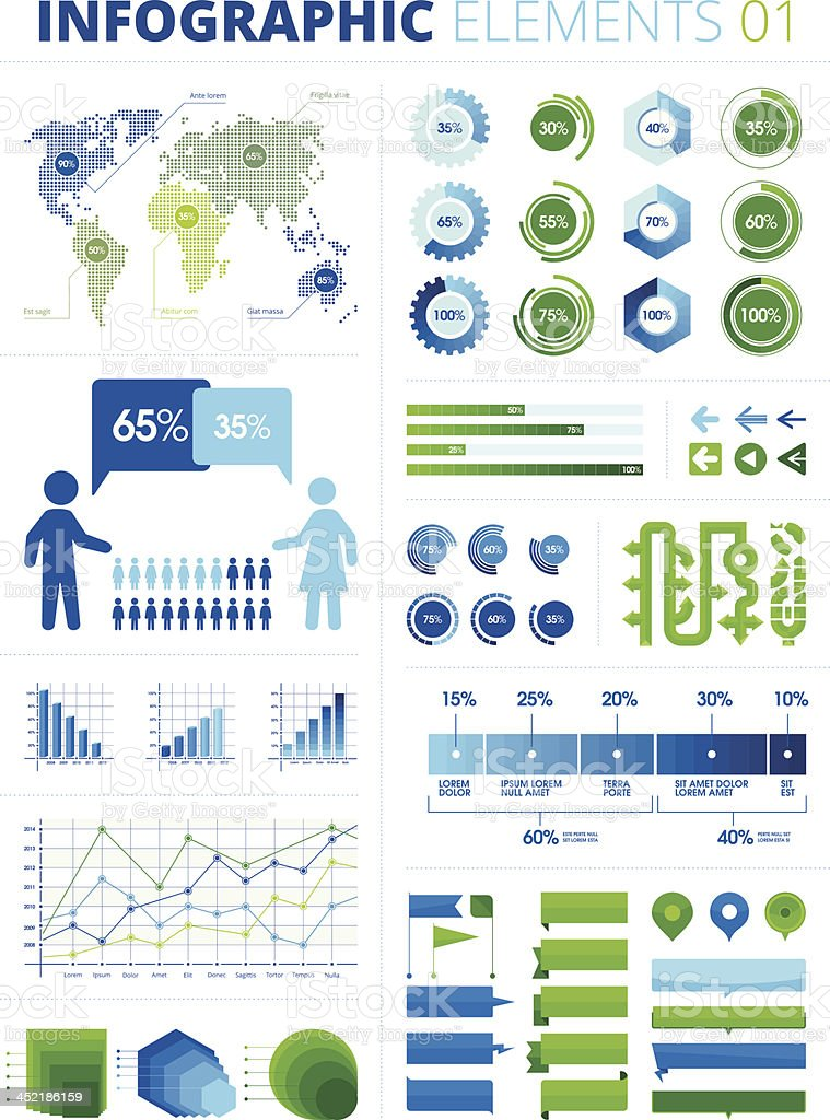 Infographic Elements 01 vector art illustration