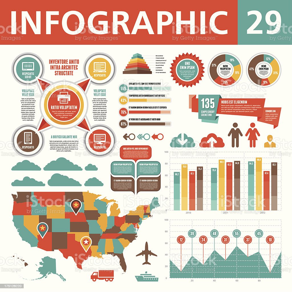 Infographic Elements 29 vector art illustration