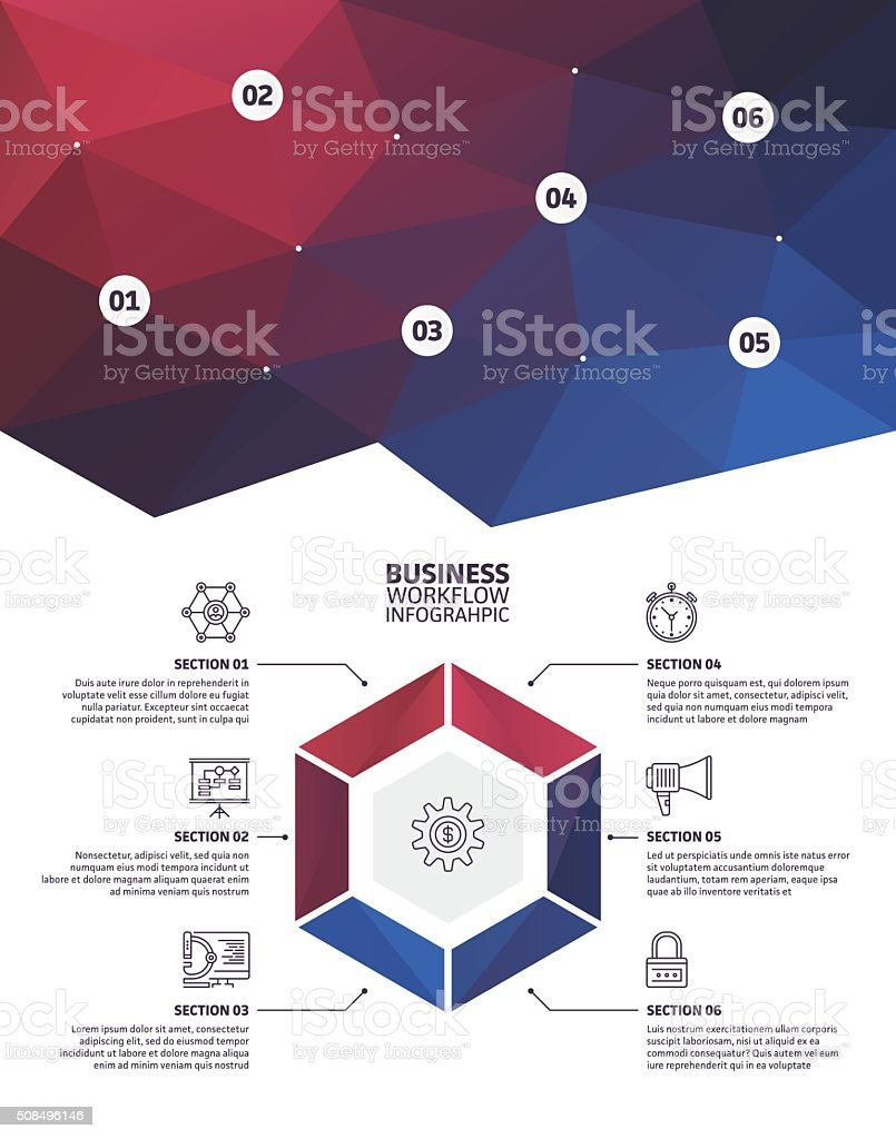 Infographic Elements Abstract Background vector art illustration
