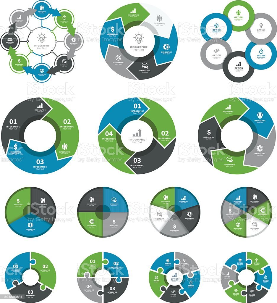 Infographic Elements and Timeline Set royalty-free stock vector art