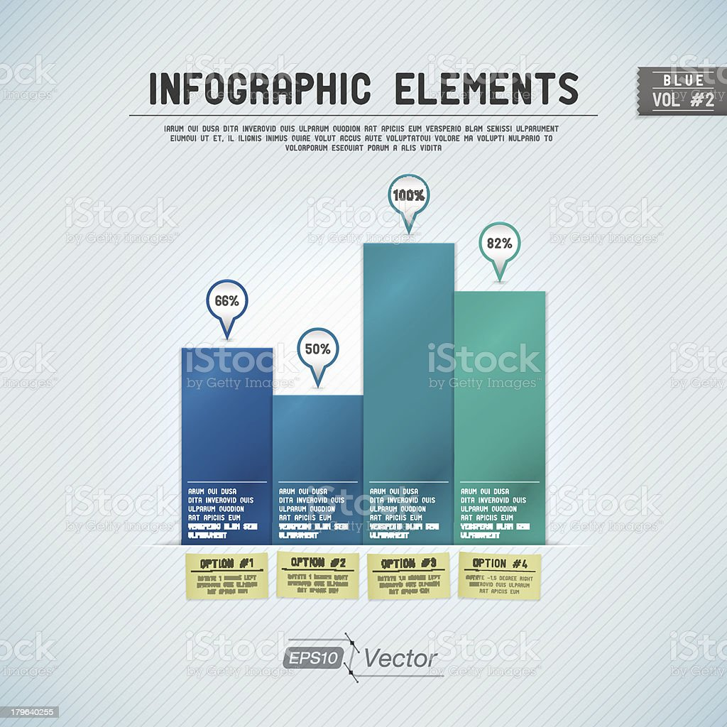 Infographic Elements: Bar Graph - Blue royalty-free stock vector art