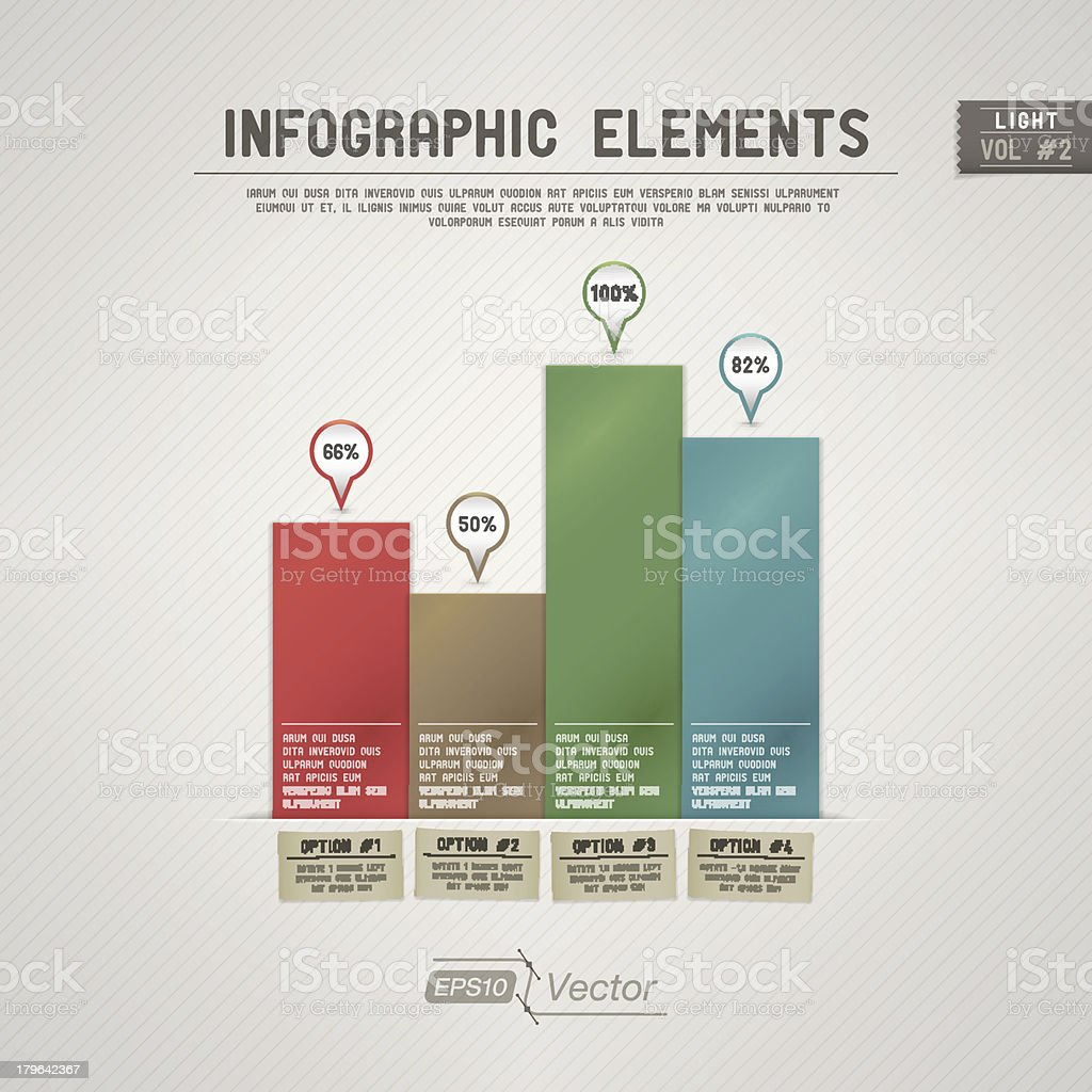 Infographic Elements: Bar Graph - Light royalty-free stock vector art