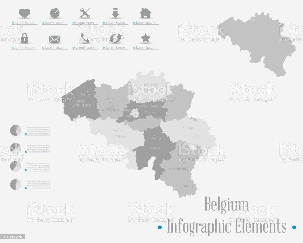 Infographic Elements - Belgium Theme vector art illustration