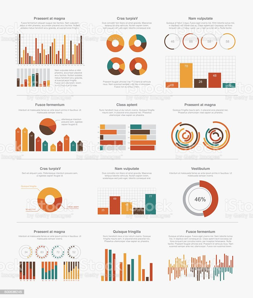 Infographic elements big set vector art illustration