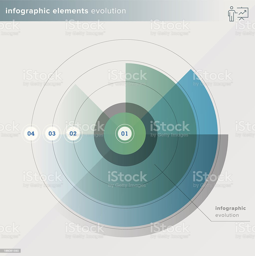 Infographic elements evolution by numbers vector art illustration