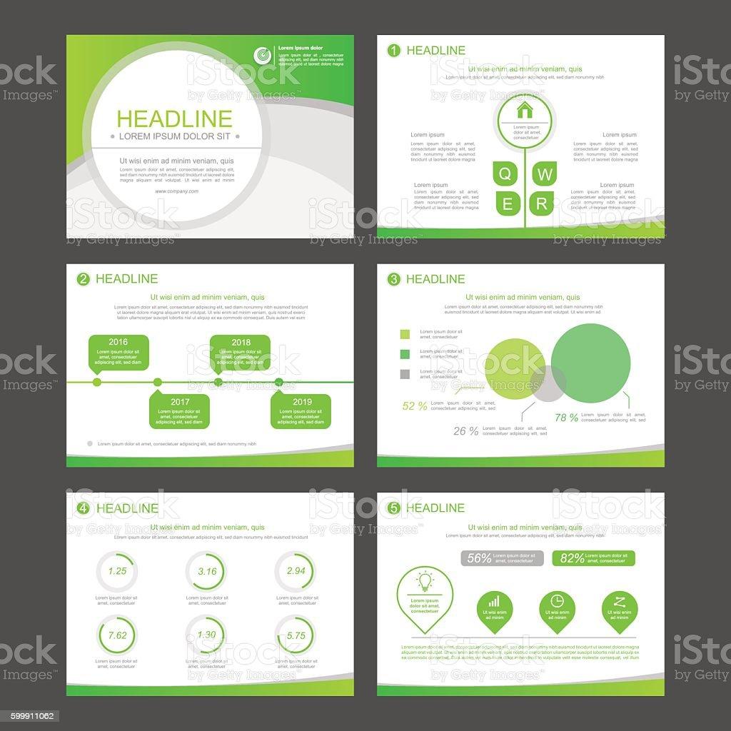 Infographic elements for presentation templates. vector art illustration