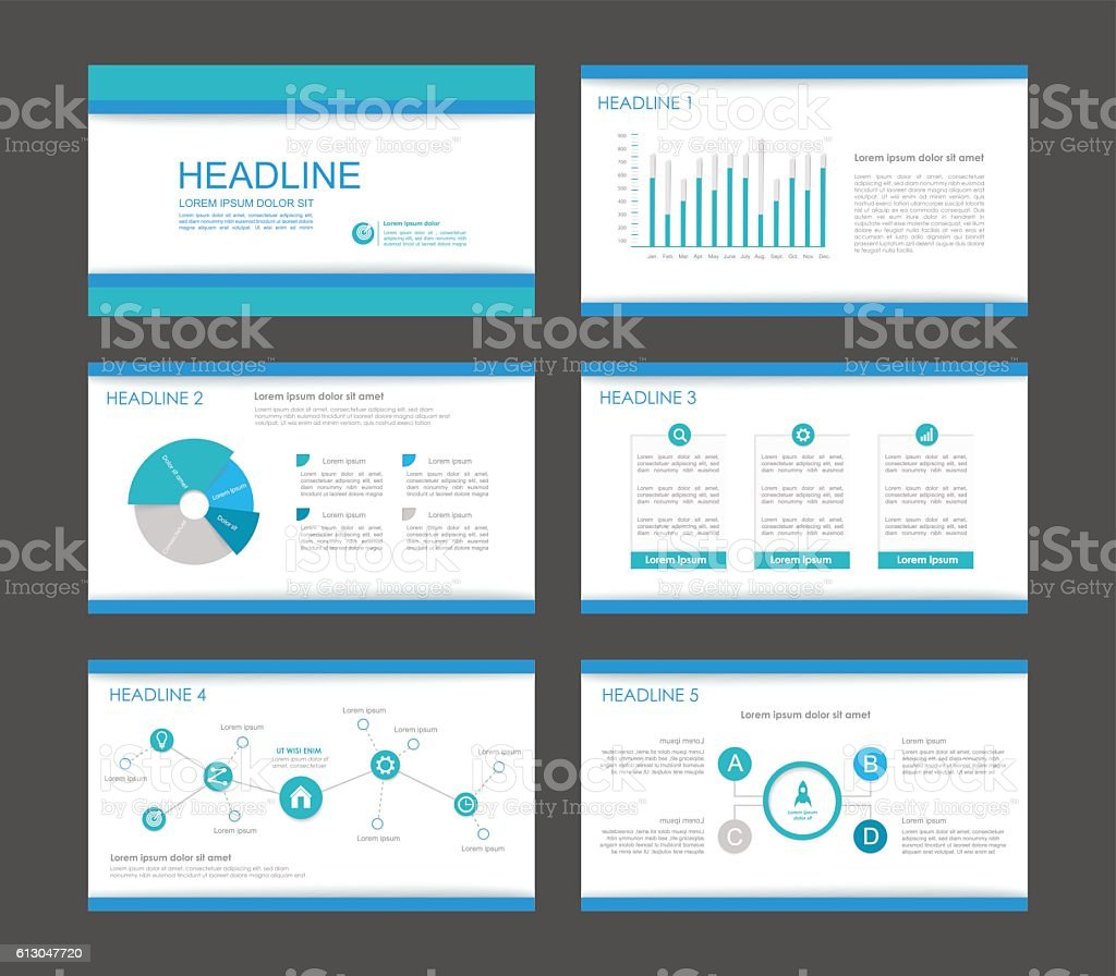 Infographic elements for presentation templates. vector art illustration