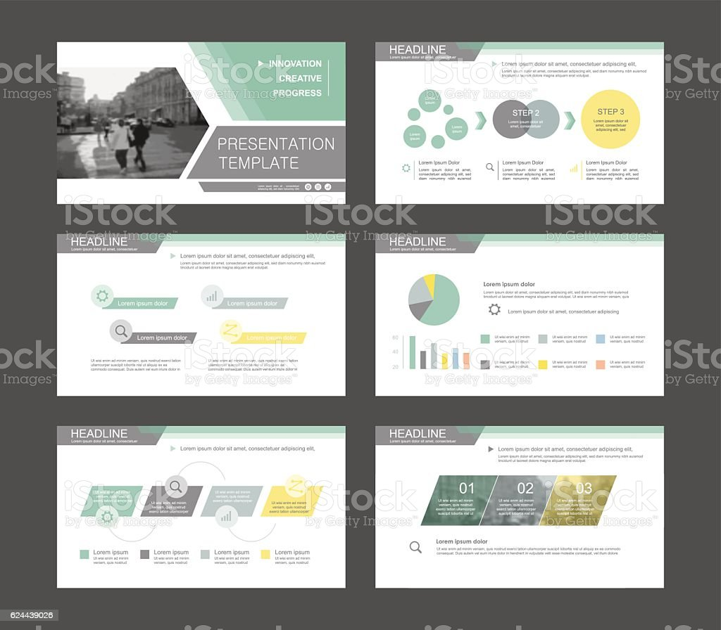 Infographic elements for presentation templates. royalty-free stock vector art