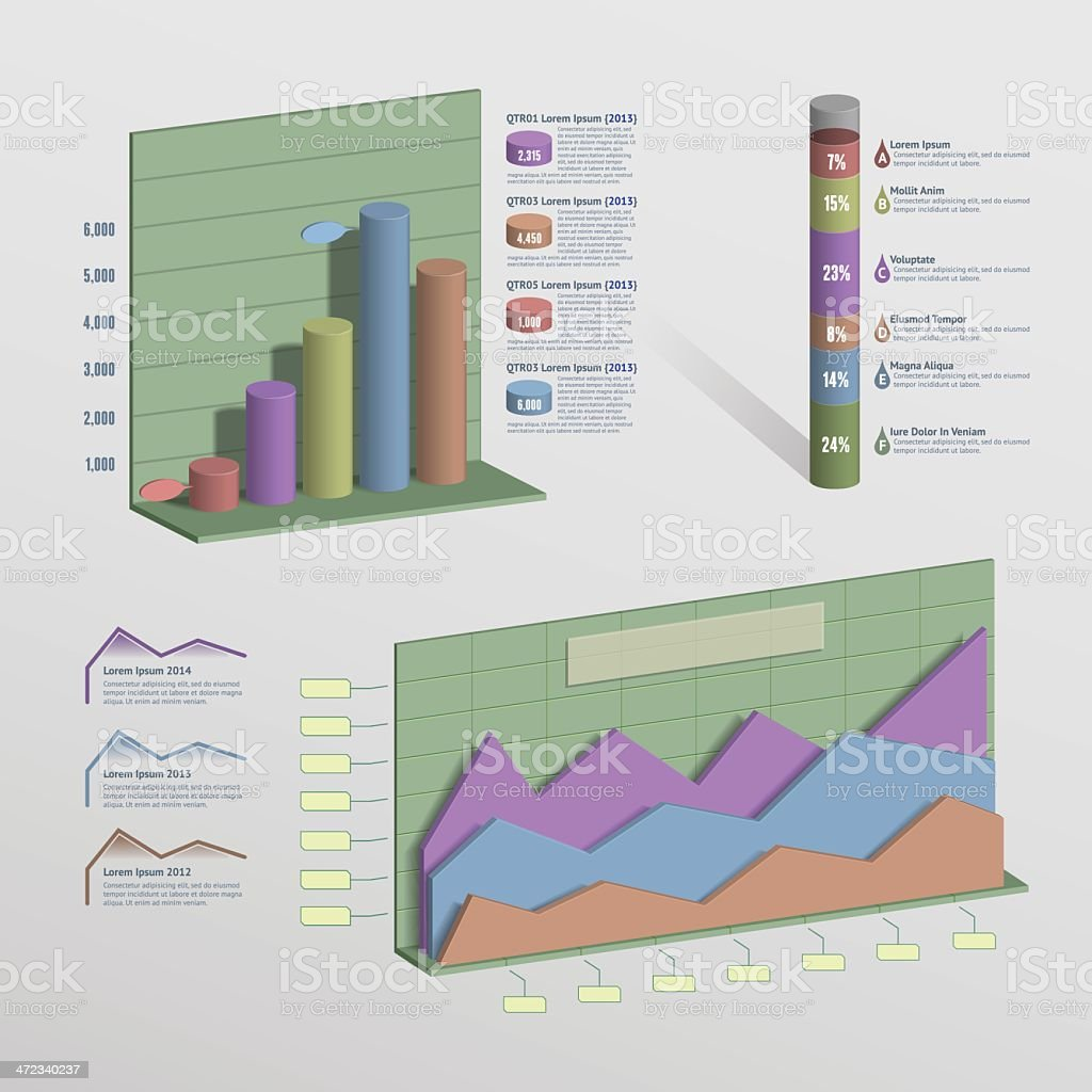 3D Infographic Elements royalty-free stock vector art