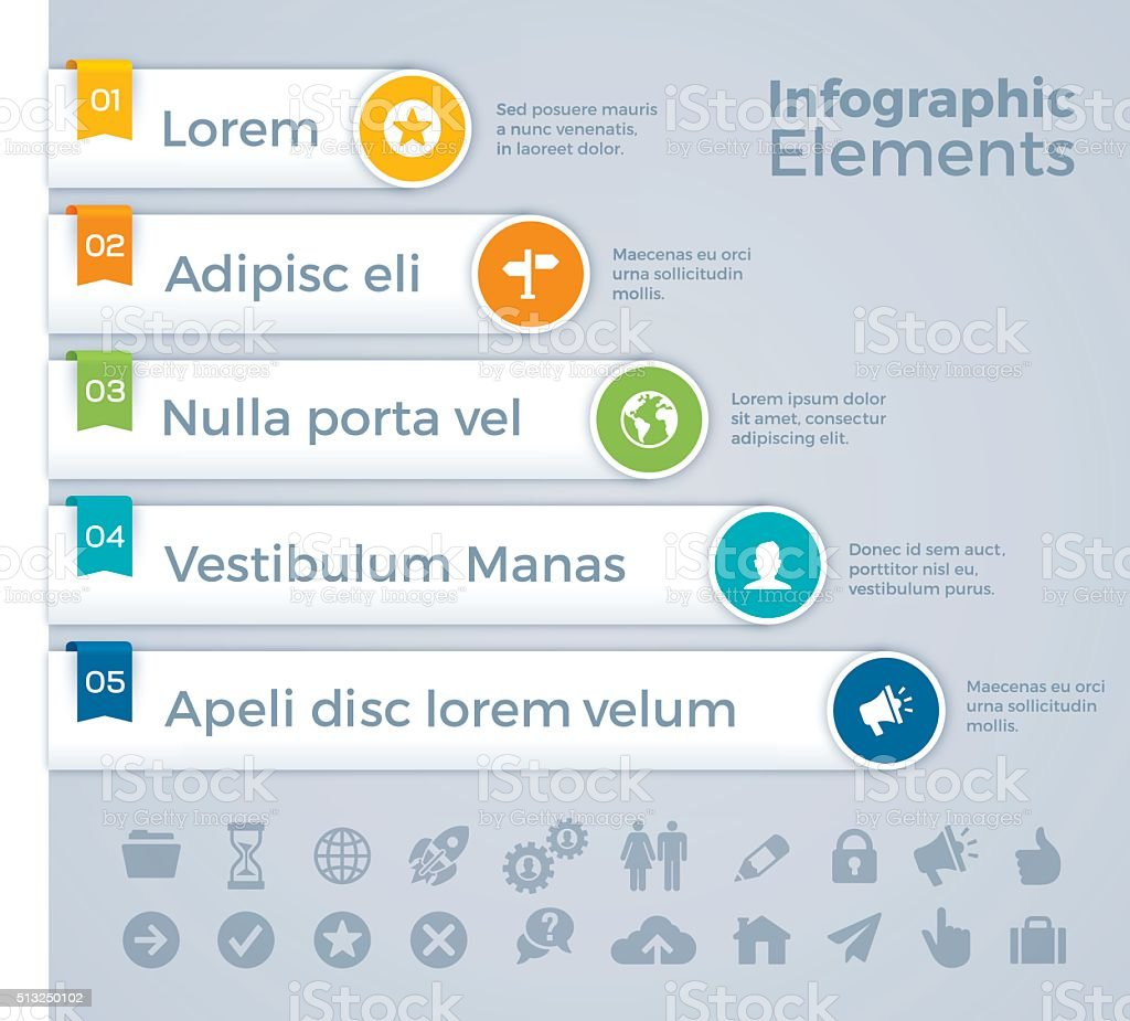 Infographic Elements vector art illustration