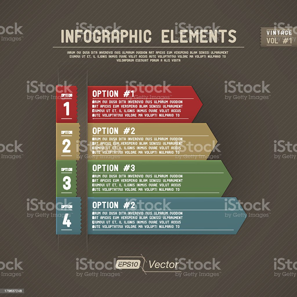 Infographic Elements - Vintage royalty-free stock vector art
