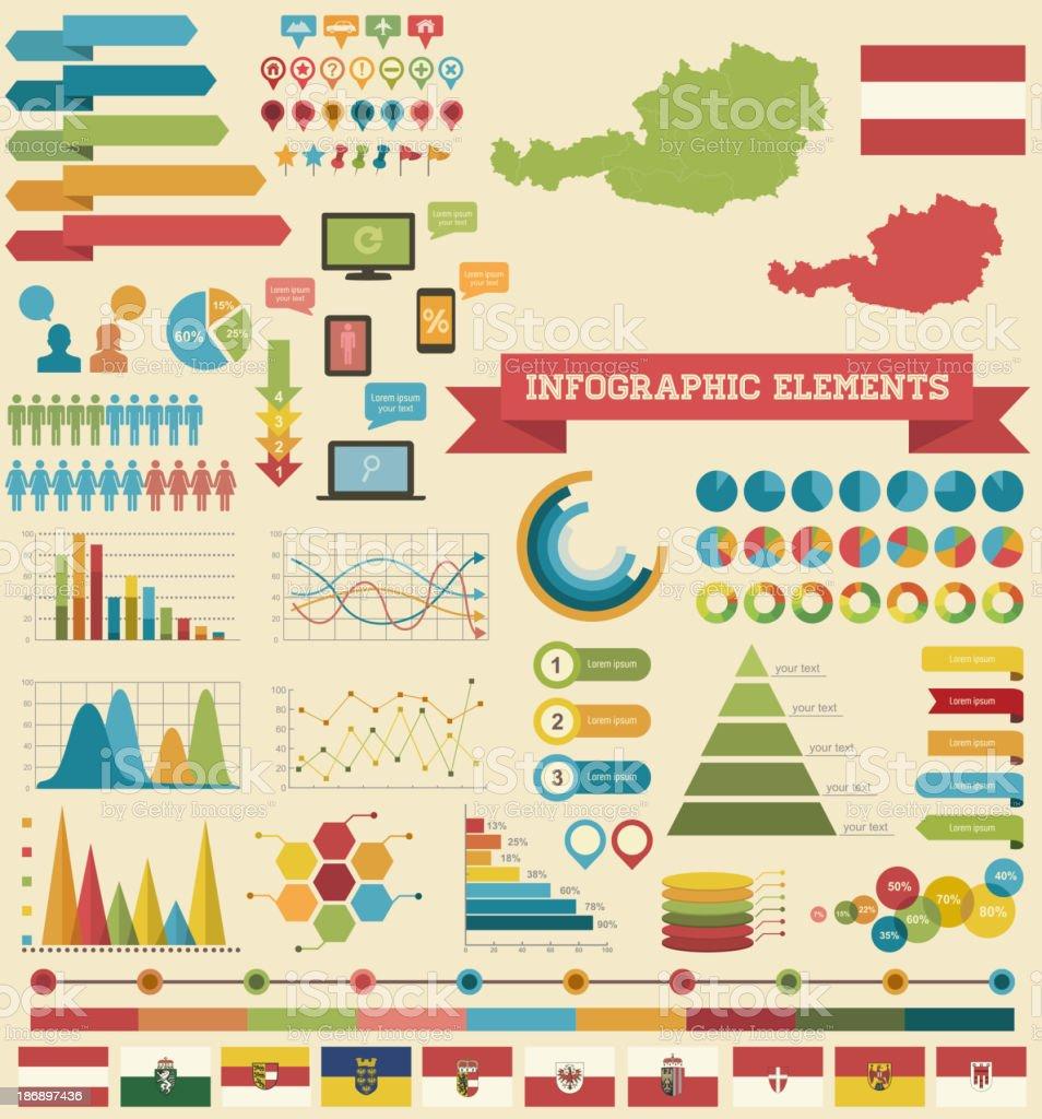 Infographic Elements-Austria vector art illustration