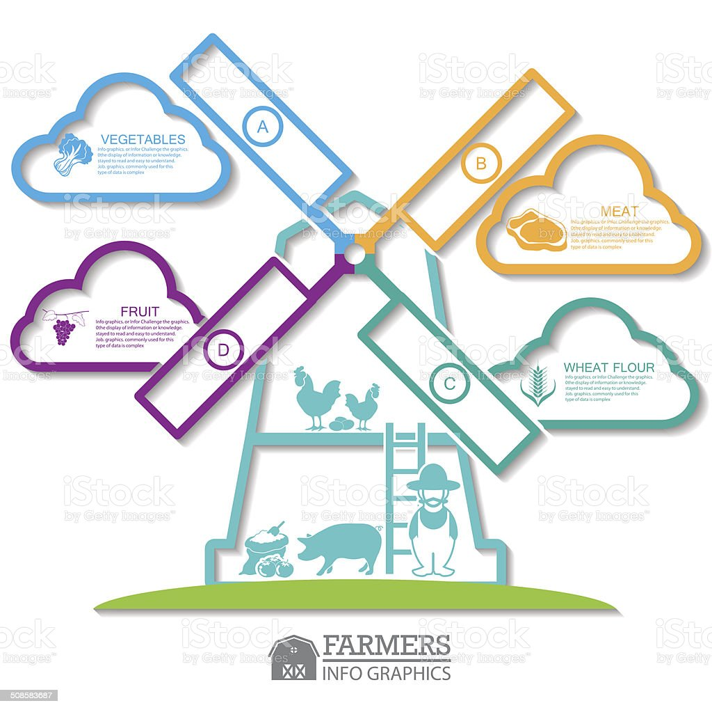 Infographic elements.Farm vector art illustration