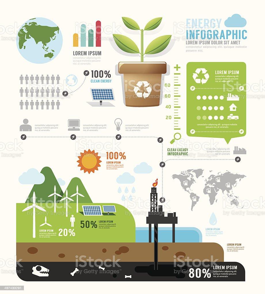 Infographic energy template design . concept vector illustration vector art illustration