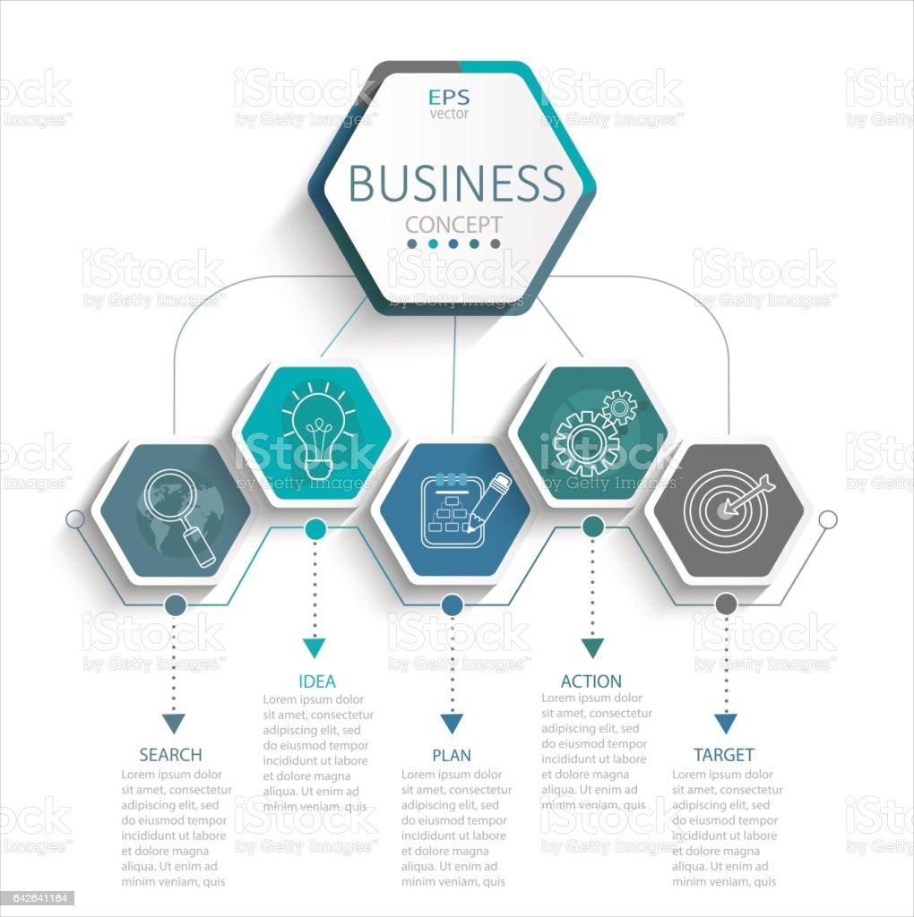 Infographic for business. vector art illustration