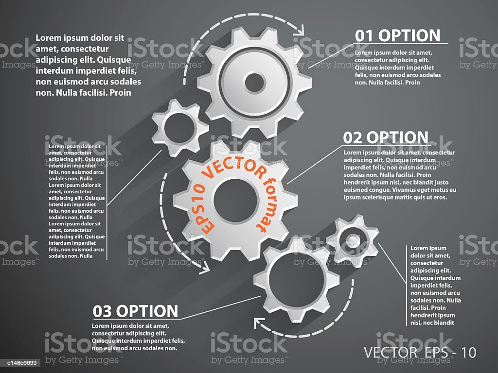 Infographic gears concept royalty-free stock vector art