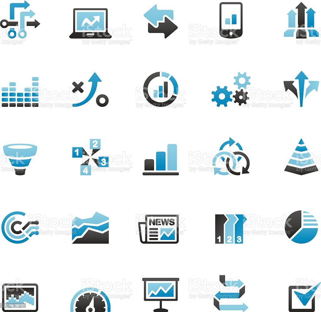Infographic icons set vector art illustration