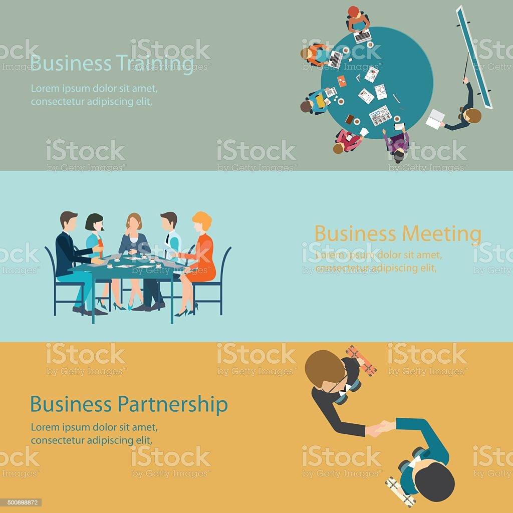 Infographic of Business meeting design. vector art illustration