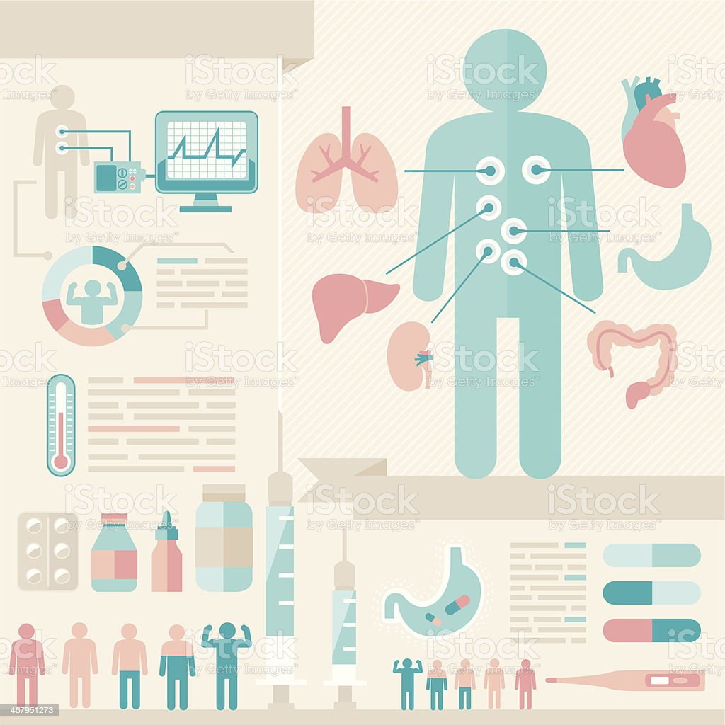 infographic of healthcare vector art illustration