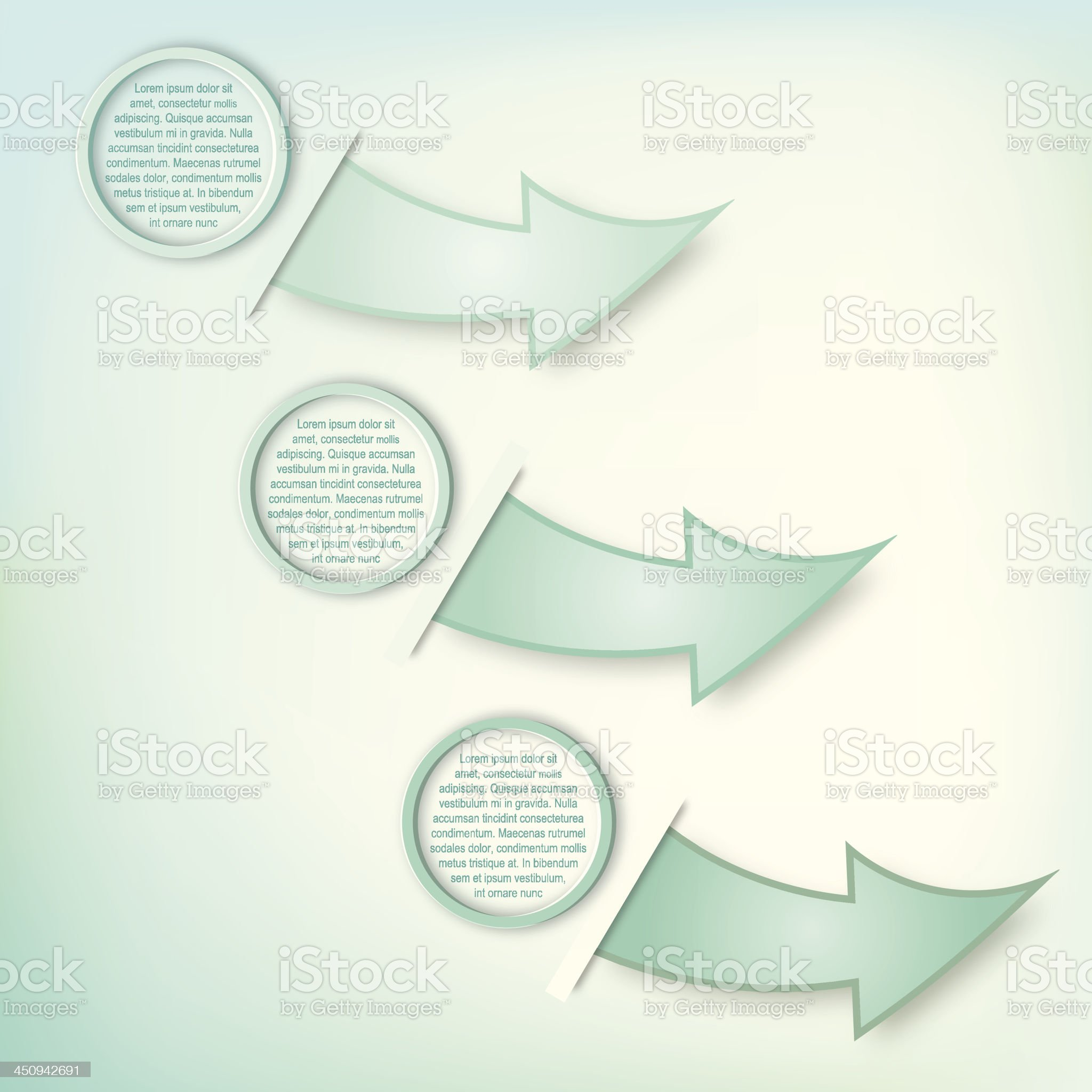 Infographic Option Arrows royalty-free stock vector art