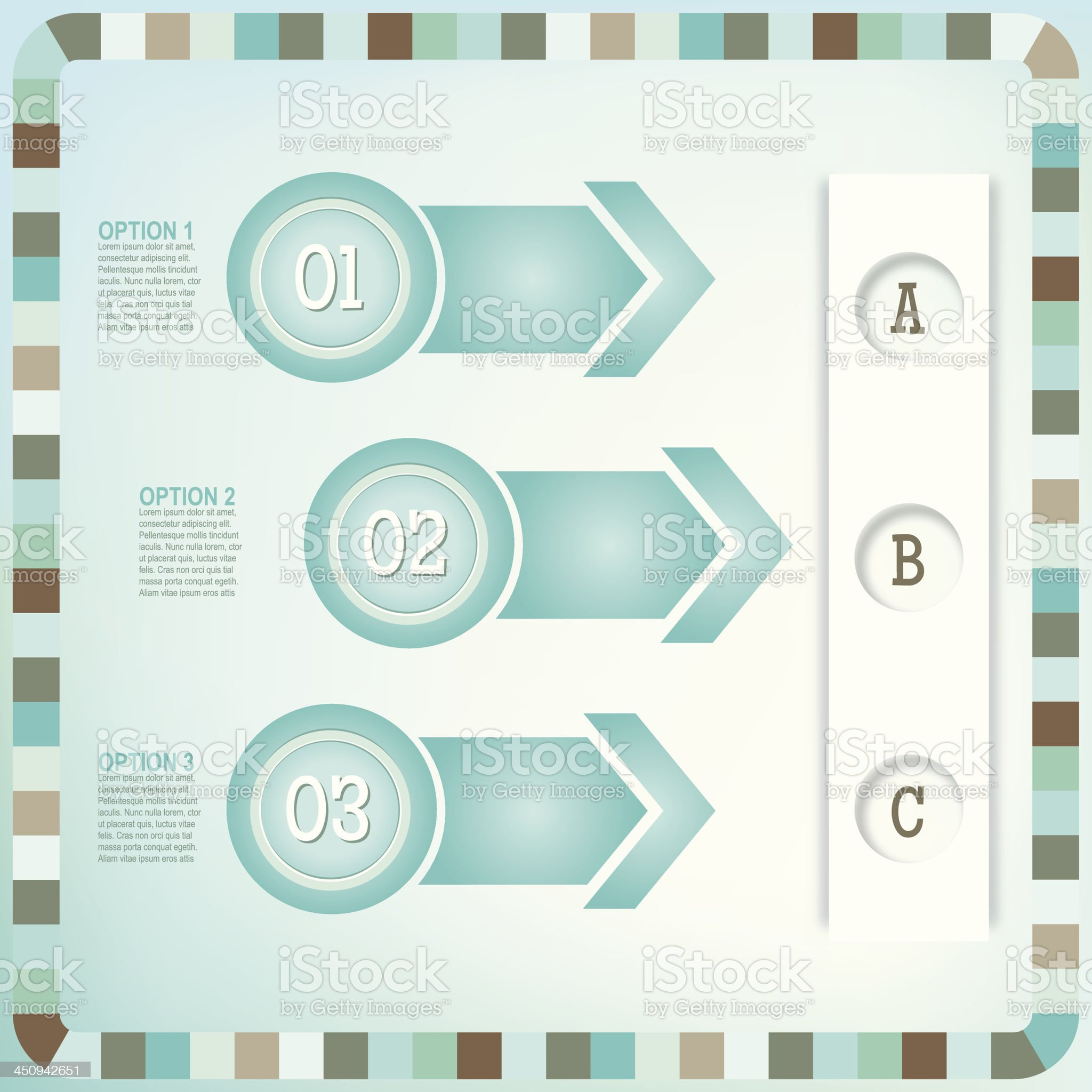 Infographic Option Tabs royalty-free stock vector art