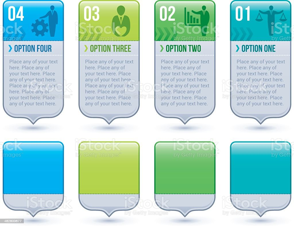 Infographic option tags vector art illustration