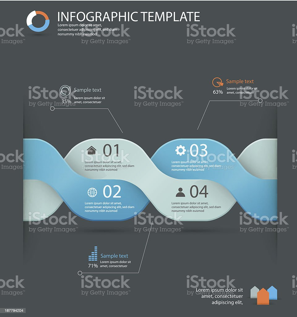 infographic options template royalty-free stock vector art