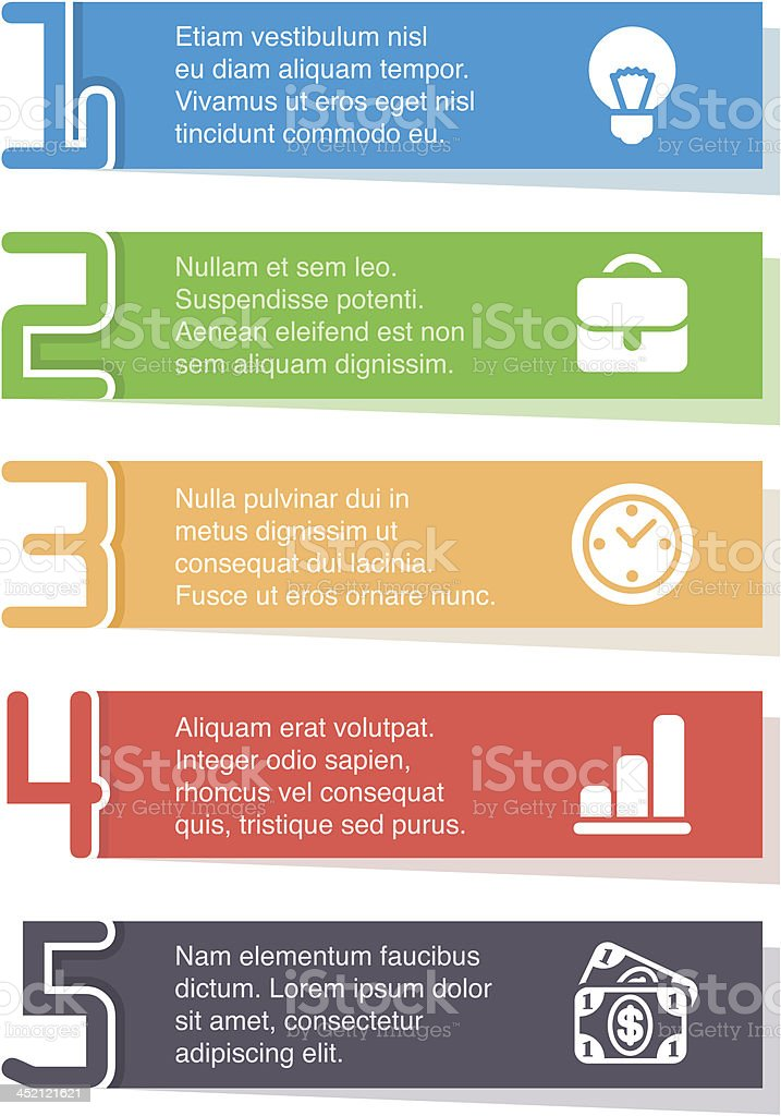 Infographic paper royalty-free stock vector art