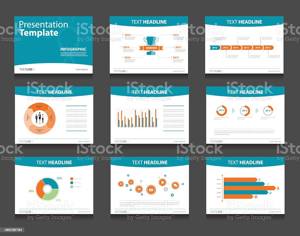 infographic powerpoint template design backgrounds . business presentation template set vector art illustration