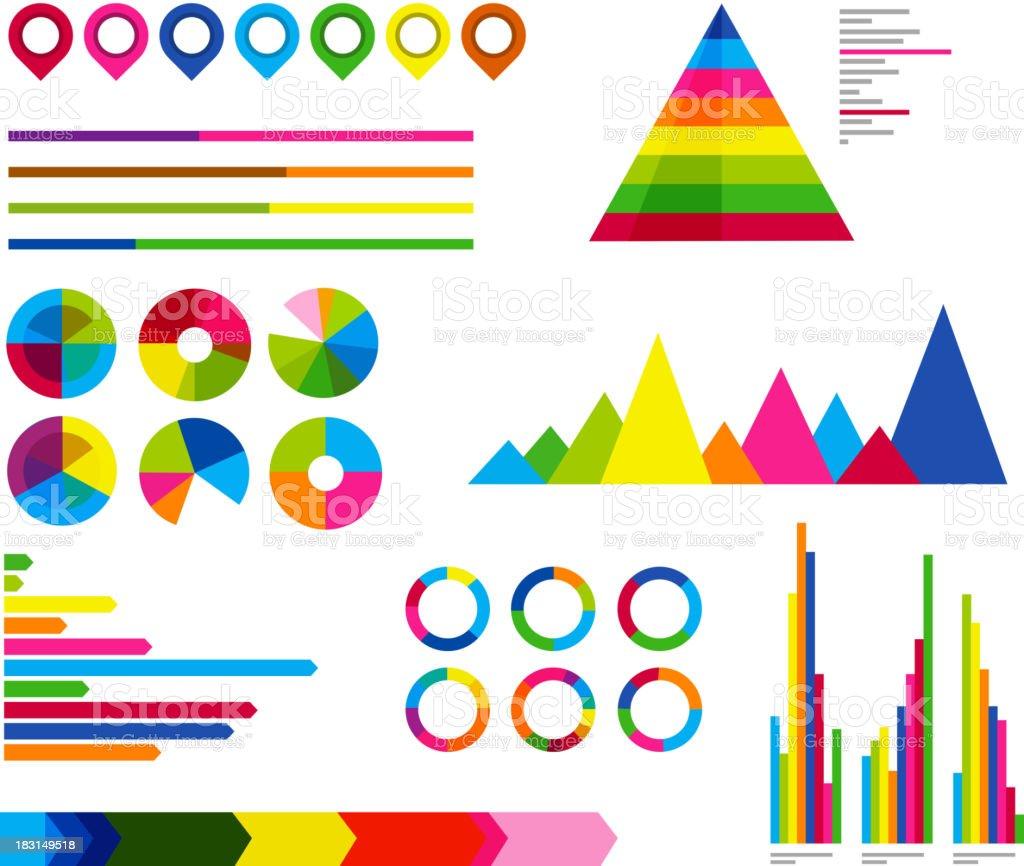 Infographic Presentation Design Element Template royalty-free stock vector art