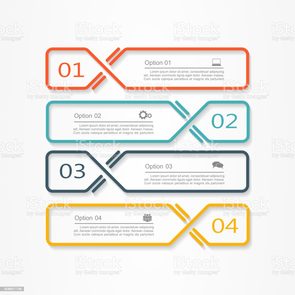 Infographic report template. Vector illustration vector art illustration
