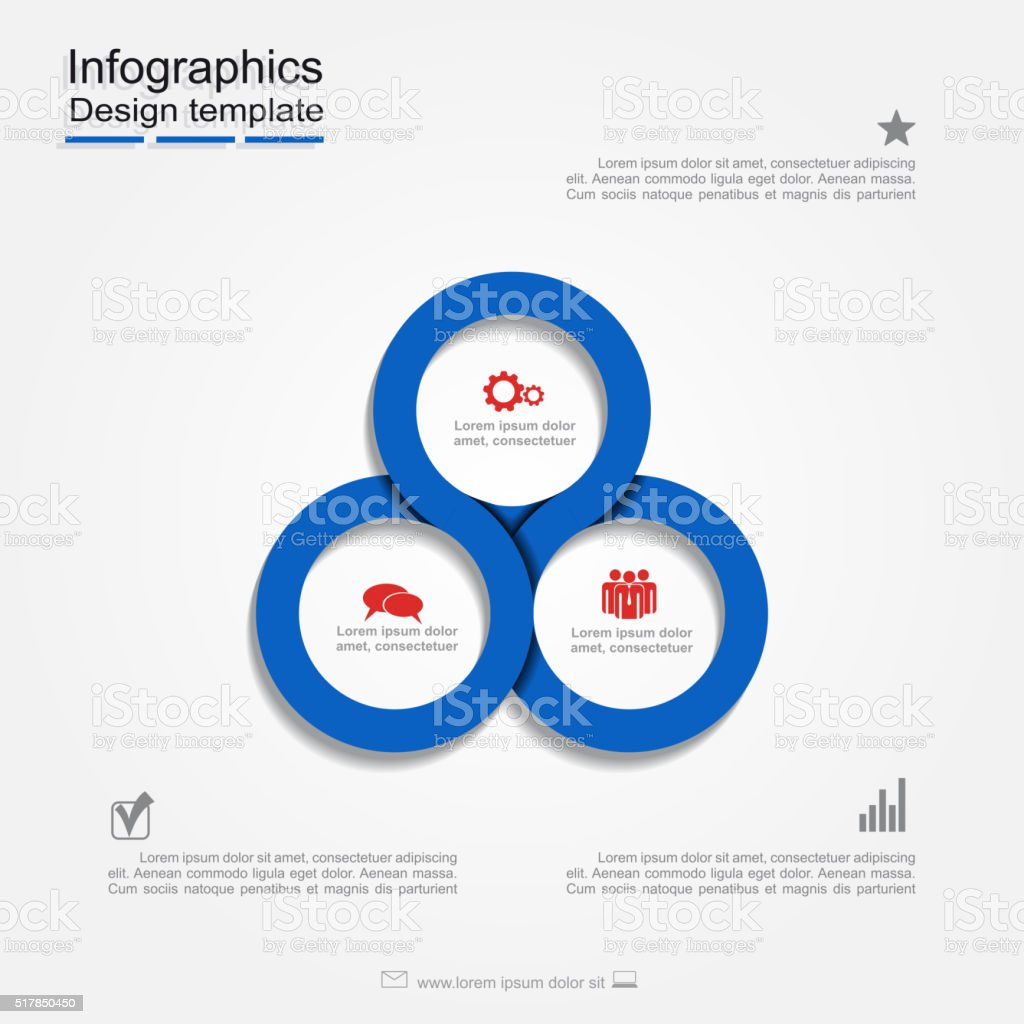 Infographic report template. Vector illustration vector art illustration